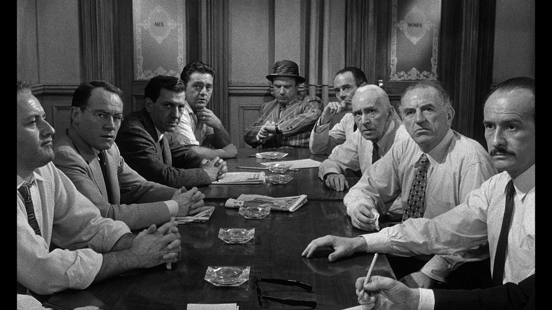 twelve angry men and pessimistic views Twelve angry men, a fifty minute script discuss the positives and negatives of the jury system as portrayed in 12 angry men give specific examples excluding juror #8, discuss three jury members and how their beliefs, personalities and views of their.