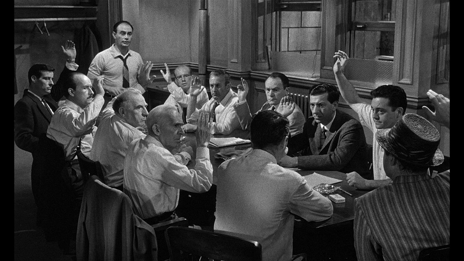 persuasive techniques in twelve angry men Eal: persuasive techniques contact classes this week literary devices 12 angry men introduction: rose uses the unity of both time, plot and setting to focus the audience's attention on the deliberation process and the interaction between the jurors.