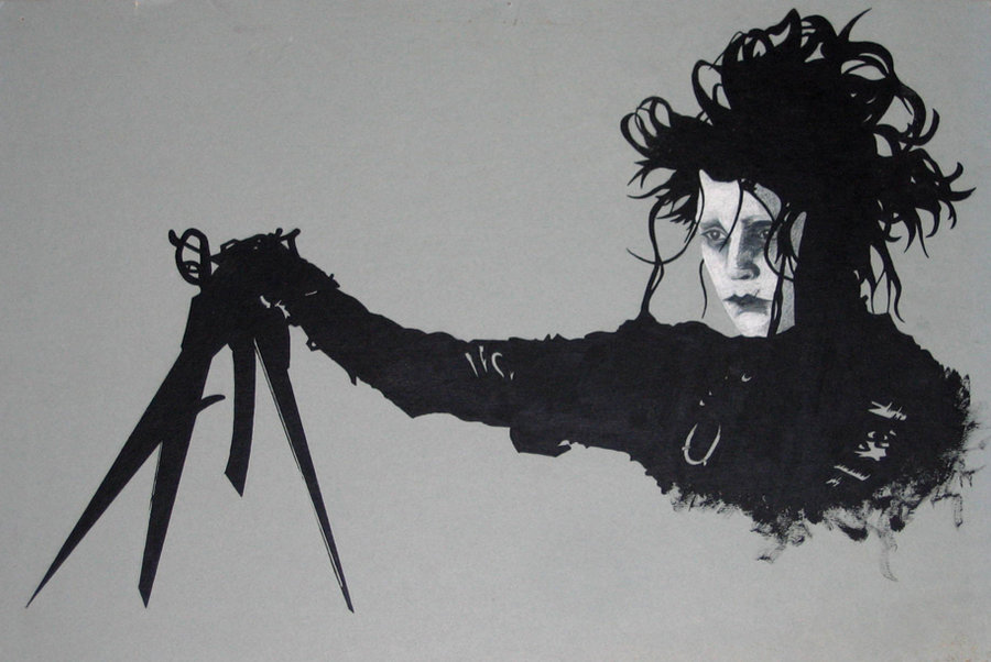 Tim Burton Drawings Edward Scissorhands