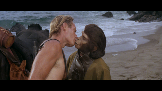 Planet of the Apes Taylor kisses Zira