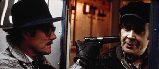 Robert Shaw as Mr. Blue, menacing Matthew Broderick's Dad.